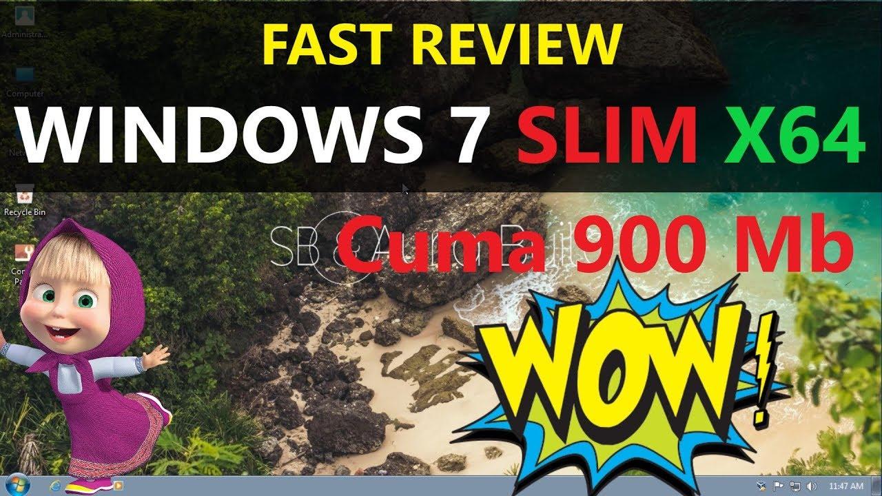windows 7 slimming